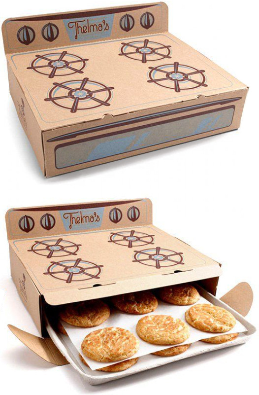 creative food packaging for fresh cookies
