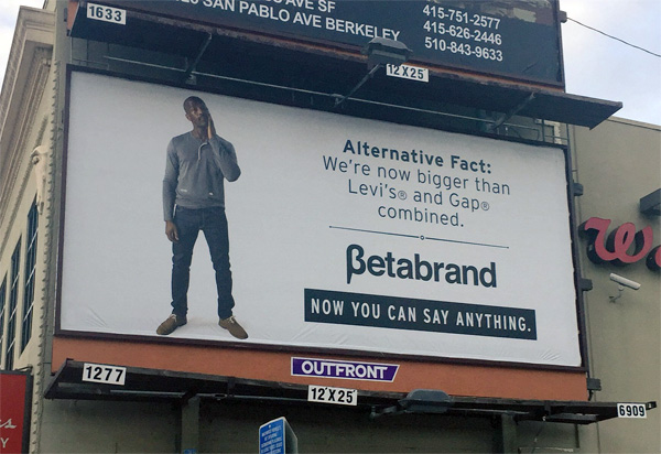 fake news billboard betabrand