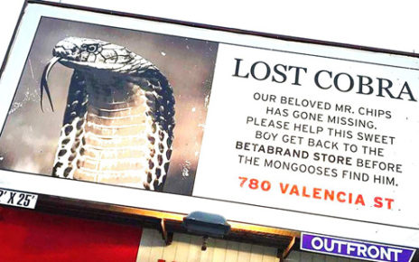 fake news billboard - lost cobra san francisco