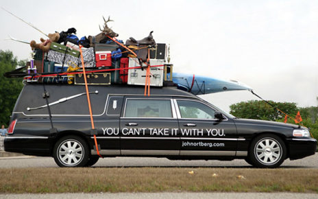 hearse loaded with earthly belongings - christian author, speaker, pastor