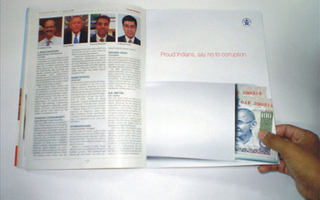 anti corruption magazine spread India