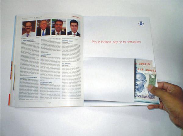 anti corruption magazine spread India