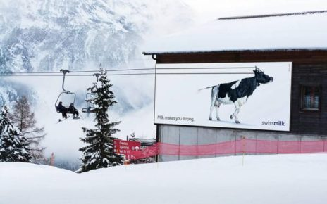 interactive ski lift billboard