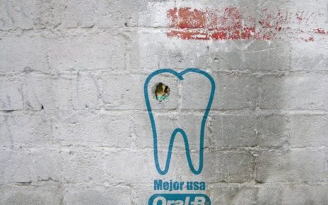 graffiti advertising cavity oral-b