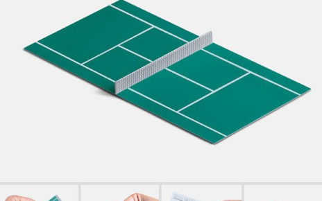 interactive business card for tennis school