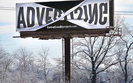 twisted banner effect billboard