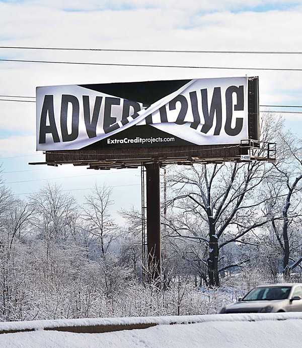 twisted banner effect billboard