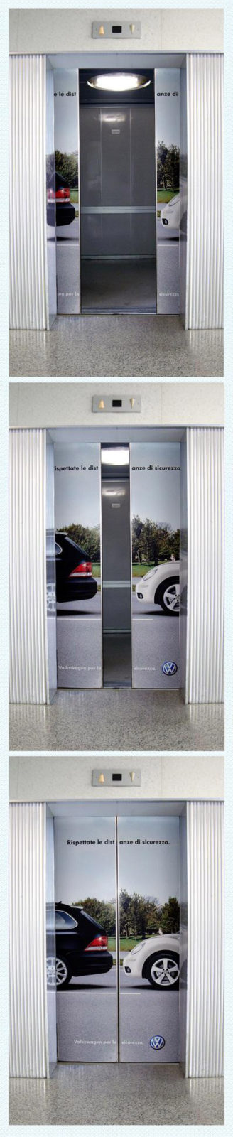 elevator doors simulate cars parking safely VW