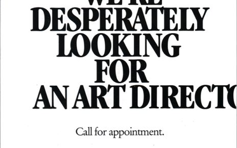 help wanted for advertising agency art director