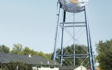exaggeration of benefits outdoor advertising on water tower