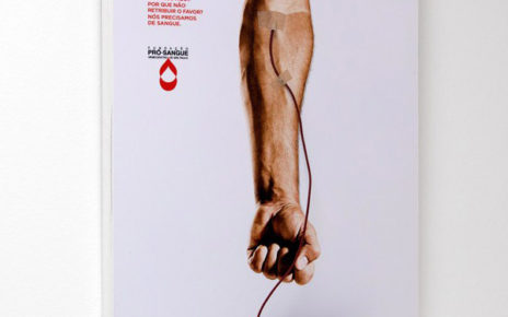 blood donation poster thats a free smartphone charging station