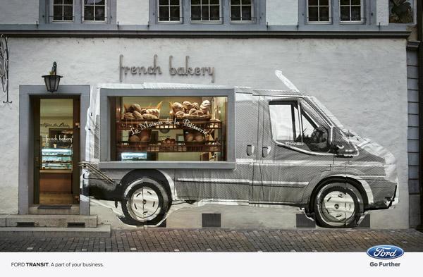 bakery storefront design ford transit print ads