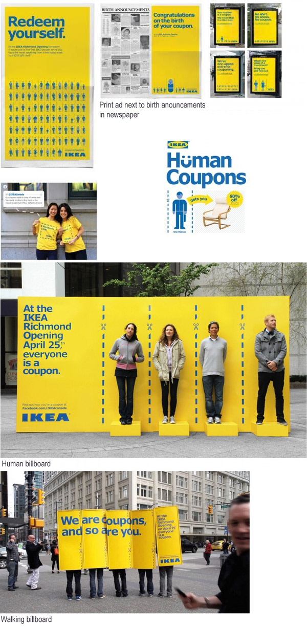 ikea human coupons street marketing campaign