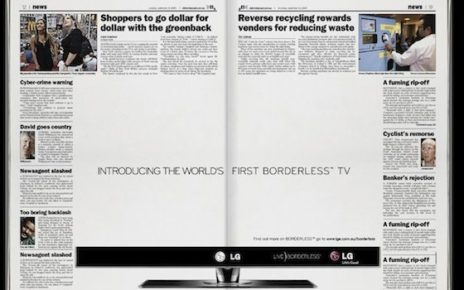 newspaper ad with no borders