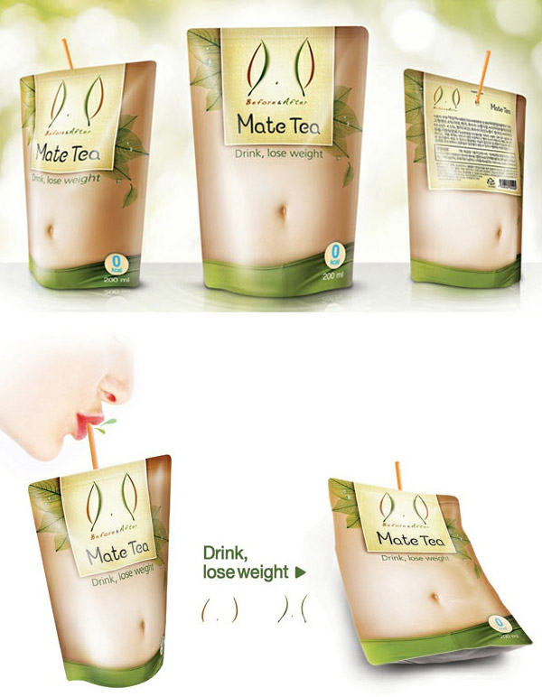 packaging that loses its gut as you drink