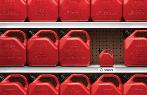 smart car gasoline can ad