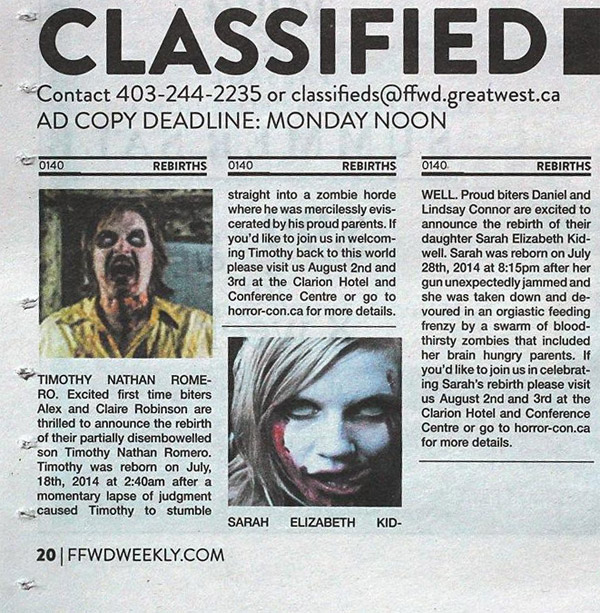 shocking unexpected classified ads