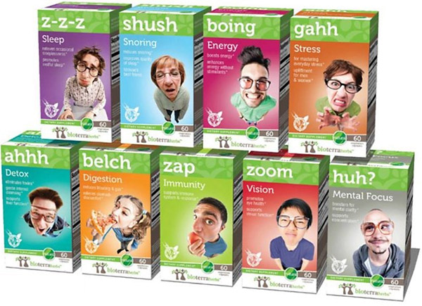 bioterra health product packaging boing belch