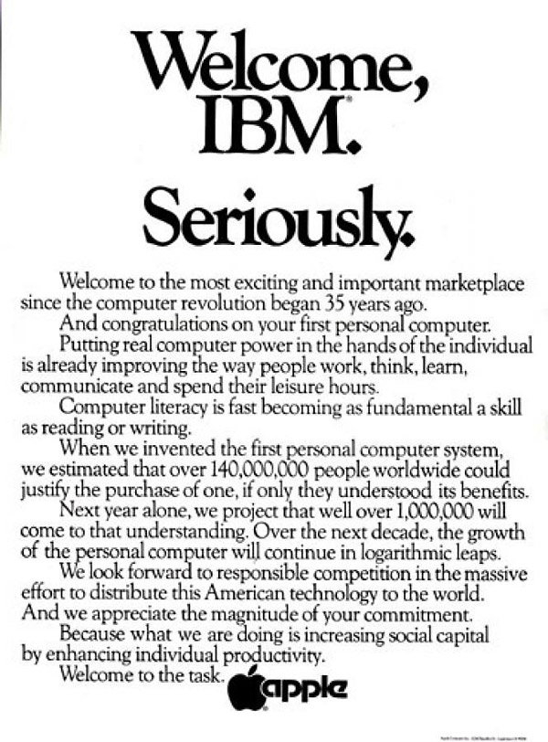 challenging the competition - apple vs ibm