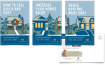 series of postcards with helpful insider tips