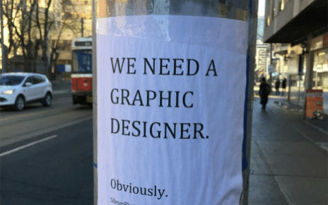 we need a graphic designer obviously help wanted flyer