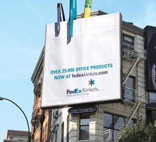 3D billboard pens pencils fedex kinkos