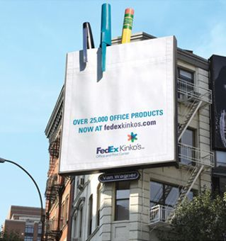 3D billboard pens pencils fedex kinkos