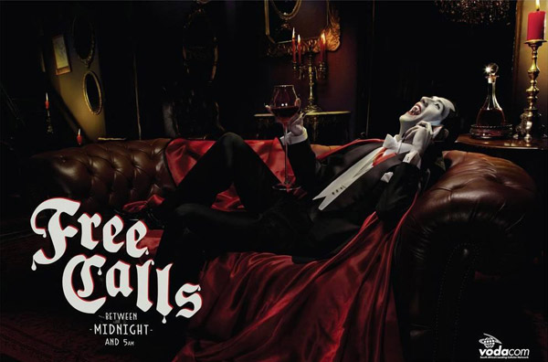 free calls after midnight - vodacom - dracula