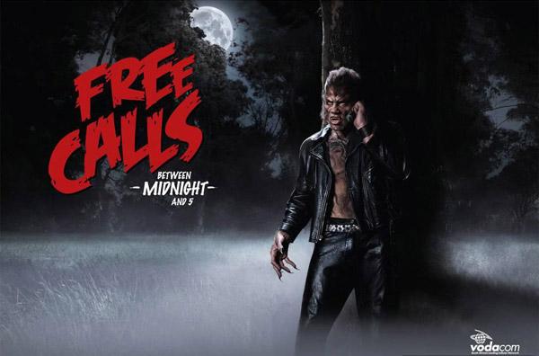 free calls after midnight - vodacom - werewolf
