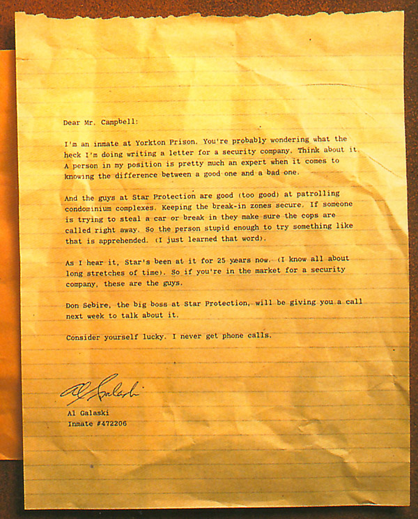 prank direct mail testimonial letter