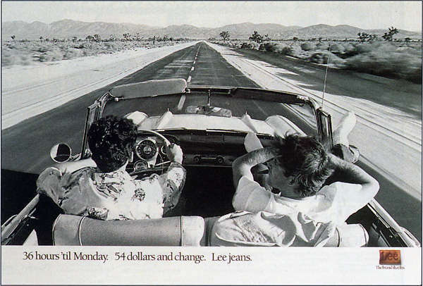 young guys in convertible - lee jeans