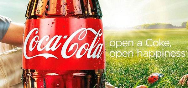 open a coke. open happiness.