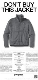 dont buy this jacket print ad - patagonia