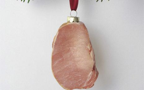 christmas food ornament posters ham