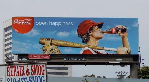cocacola enjoy summer billboard campaign baseball