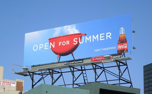 coca cola open for summer billboard grill