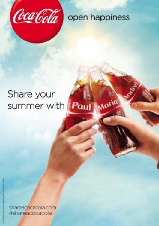 Share a Coke Personalized Bottles Campaign - THE BIG AD