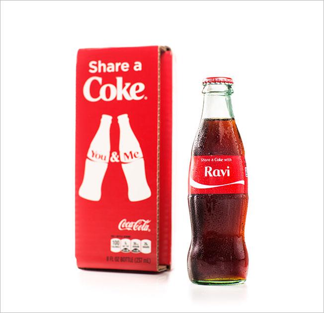 personalized coke bottle packaging