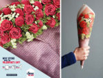 cheap paper rolled up to look like expensive valentines day flowers