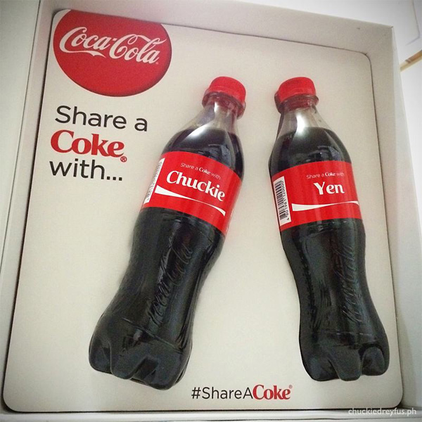 share a personalized coke bottle gift box