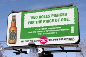 beer comarketing with body piercing shop