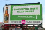 beer comarketing with chipotle billboard