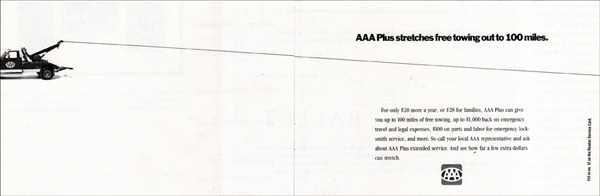 illustration of distance - AAA towing print ad