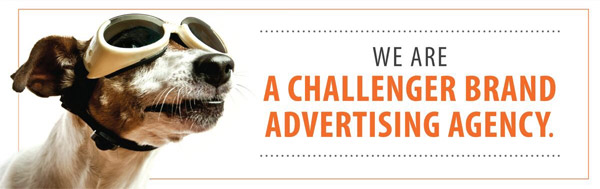 attention-grabbing banner ad with dog for no apparent reason