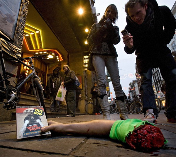 street marketing for movie severed arm