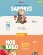 single-page website design - bobs milk shakes