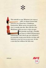 avis asterisk print ad