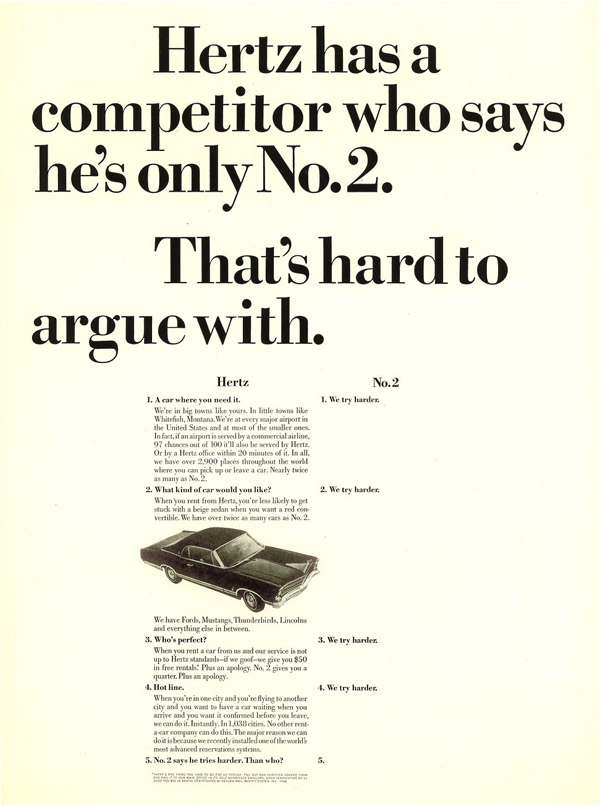 countering attack ads from competitors - hertz avis