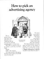 how to pick an ad agency - j walter thompson house ad