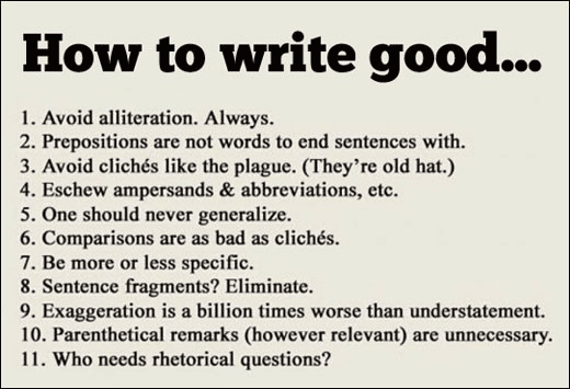 rules for writing good ads